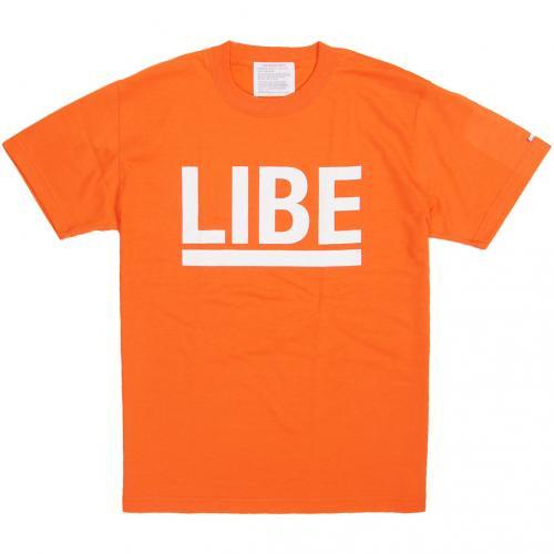 LIBE ( ライブ ) Tシャツ BIG LOGO TEE (ORANGE) 10A02