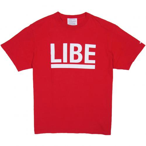 LIBE ( ライブ ) Tシャツ BIG LOGO TEE (RED) 10A02