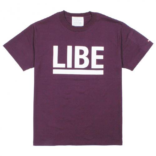 LIBE ( ライブ ) Tシャツ BIG LOGO TEE (PURPLE) 10A02