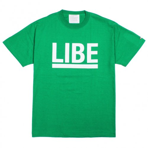 LIBE ( ライブ ) Tシャツ BIG LOGO TEE (KELLY GREEN) 10A02