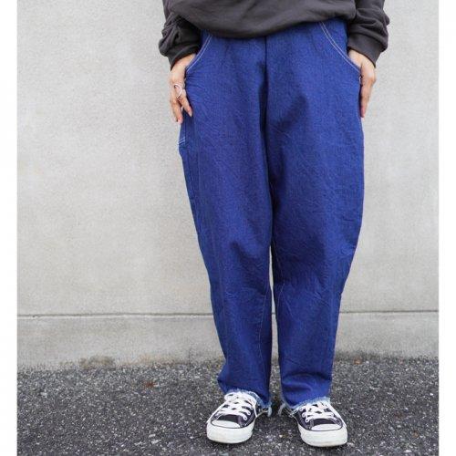 MOUN TEN. ( マウンテン ) パンツ WIDE CROPPED DENIM ( BLUE ) 大人サイズ