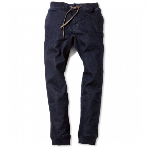 GOHEMP (ゴーヘンプ) BASIC MEN'S SLIM RIB PANTS (ONE WASH) GHP1064DSO