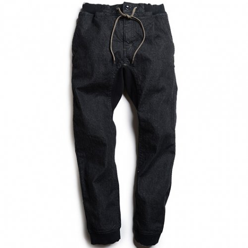 GOHEMP (ゴーヘンプ) MEN'S SLIM RIB PANTS (ONE WASH BLACK) GHP1064BCO