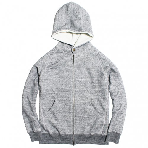 RULEZPEEPS  (ルールズピープス) SMILE WOOL ZIP HOODIE 12G (CHARCOAL GRAY) 16RZ0101