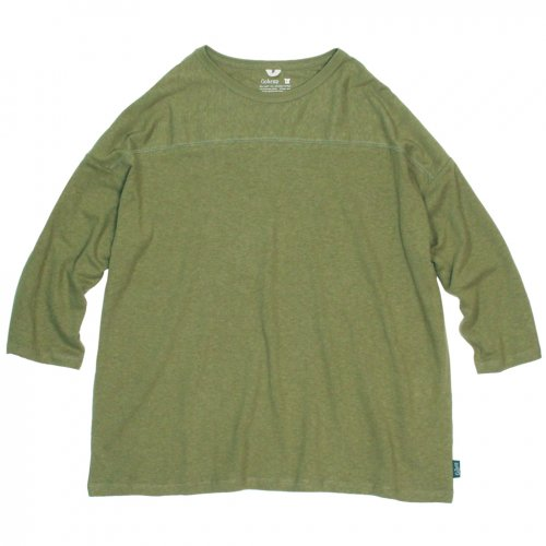 GOHEMP ( ゴーヘンプ ) ワイドフットボールTシャツ BASIC LADY'S WIDE FOOTBALL TEE ( LIME GREEN ) GHC4298RG19