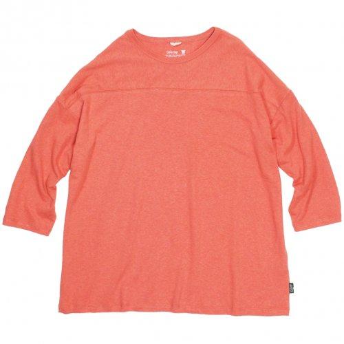 GOHEMP ( ゴーヘンプ ) ワイドフットボールTシャツ BASIC LADY'S WIDE FOOTBALL TEE ( PEACH ECHO ) GHC4298RG