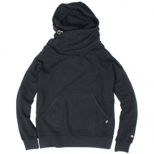 GOHEMP ( ゴーヘンプ ) LADY'S SHAWL HOODY ( BLACK ) GHC4415BS18-2