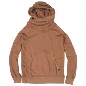 GOHEMP (ゴーヘンプ) LADY'S SHAWL HOODY (BROWN DUCK) GHC4415BS17-2