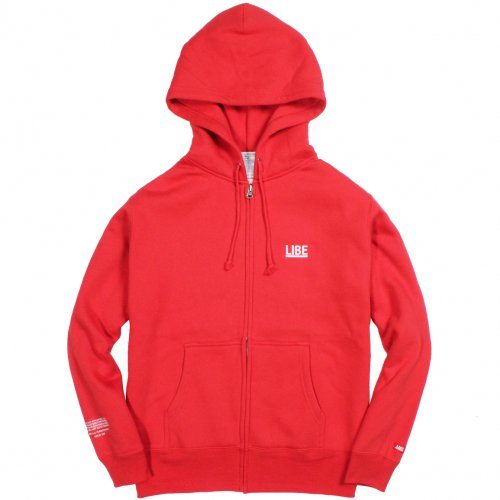 LIBE ( ライブ ) 2014 BIG LOGO ZIP PARKA ( RED ) 14A01