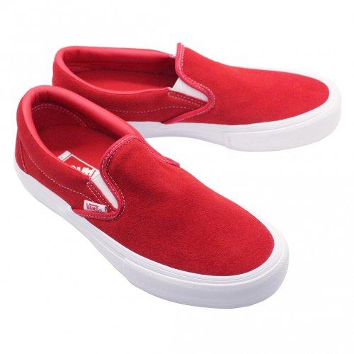 VANS ( バンズ ) SLIP-ON PRO ( RED/WHITE )