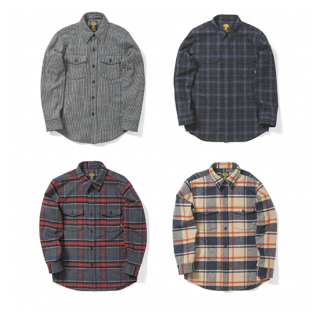 GREENCLOTHING (グリーンクロージング) 17-18 早期予約受付 WOOL FLANNEL SHIRTS