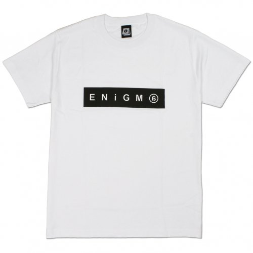 ENiGMa (エニグマ) BOX LOGO TEE (WHITE)