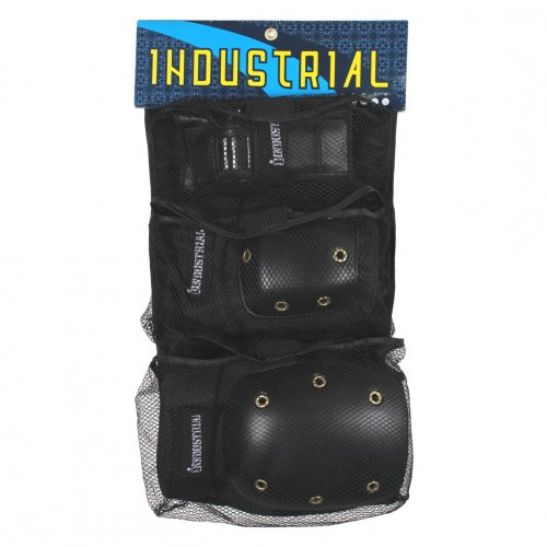 INDUSTRIAL ( インダストリアル ) 子供用パッドセット 3 in 1 PAD SET (BLACK/BLACK)