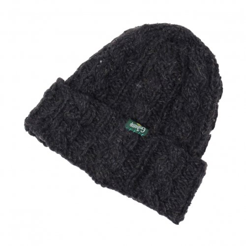 GOHEMP (ゴーヘンプ) MIX CABLE WATCH CAP (BLACK) GHG0414HPH