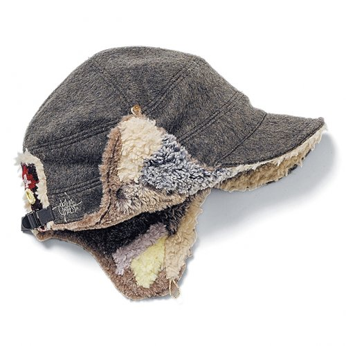 GREENCLOTHING ( グリーンクロージング ) 19-20 BOA PATCHWORK CAP ( HERRINGBONE GREY )