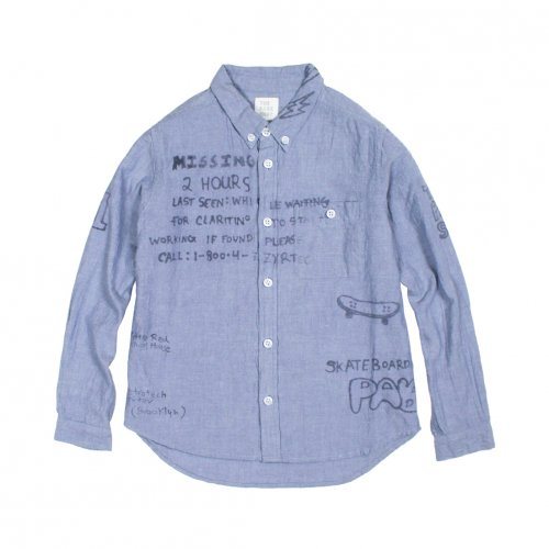 【30%OFF】THE PARK SHOP (ザ パークショップ) KIDS SUBWAY SHIRTS (BLUE)