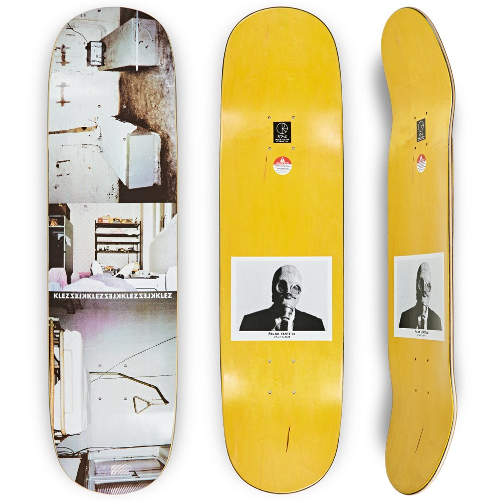 POLAR SKATE CO. ( ポーラー ) デッキ SHIN SANBONGI - FREEDOM - WHITE ( SURF SHAPE Jr / 8.75 )