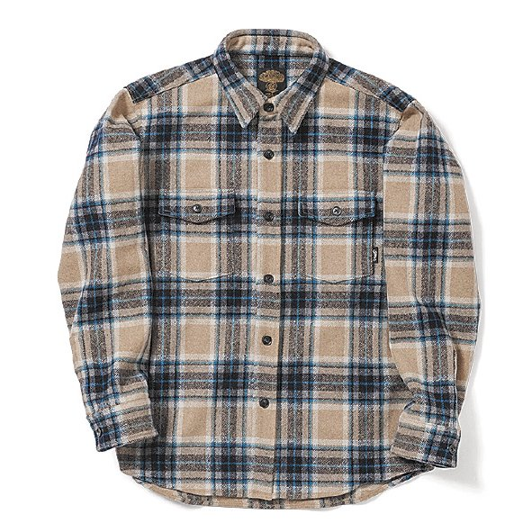 GREENCLOTHING ( グリーンクロージング ) 19-20 WOOL FLANNEL SHIRTS ( ASH CHECK )