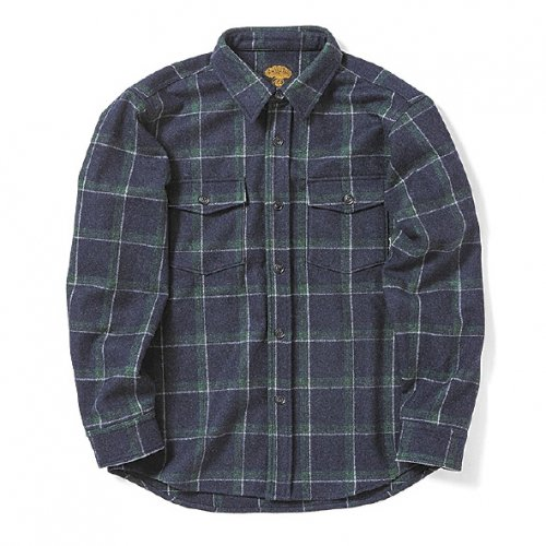 GREENCLOTHING (グリーンクロージング) 18-19 早期予約受付 WOOL FLANNEL SHIRTS