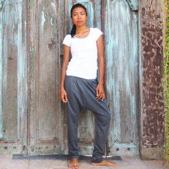 Padma Sarrouel Pants Misty gray