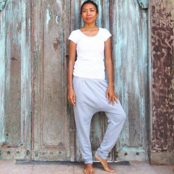 Padma Sarrouel Pants Misty light gray