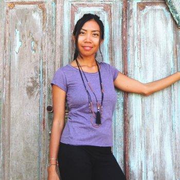 Eco Cationic T shirt purple