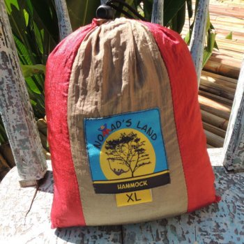 Nomad's land Hammock red x brown size XL (color code : K)