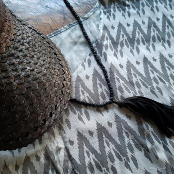 Fenua Poncho Dress (ikat)