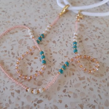 <img class='new_mark_img1' src='https://img.shop-pro.jp/img/new/icons3.gif' style='border:none;display:inline;margin:0px;padding:0px;width:auto;' />Beads Mask Strap pink x turquoise