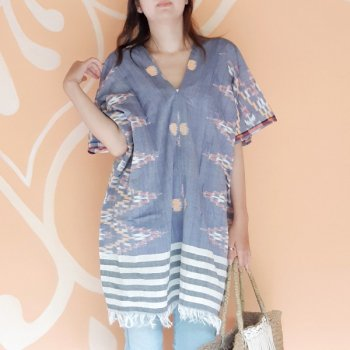 <img class='new_mark_img1' src='https://img.shop-pro.jp/img/new/icons1.gif' style='border:none;display:inline;margin:0px;padding:0px;width:auto;' />BALI SARONG TUNIC / NAVY