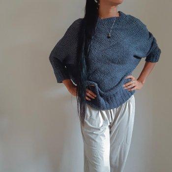 Yuru-Fuwa Knit (dolman sleeve)  gray