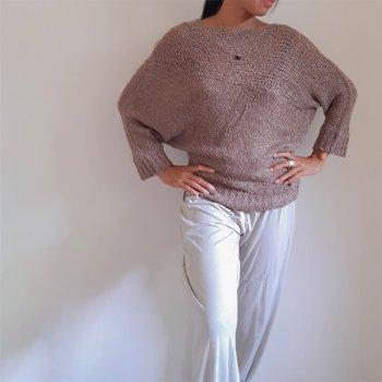 Yuru-Fuwa Knit (dolman sleeve)  beige