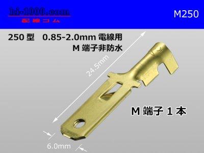 250型(0.85〜2.0mm2電線用)オス端子/M250