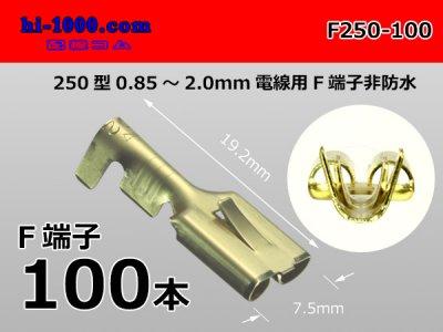 250型(0.85~2.0mm2電線用)メス端子非防水100本/F250-100