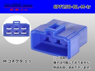 250型6極PFシリーズMコネクタ青色(端子...