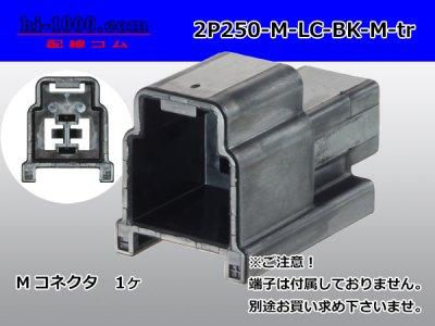 矢崎総業250型91シリーズM-LCタイプ2極Mコネクタ黒色(端子無)/2P250-M-LC-BK-M-tr
