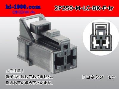 矢崎総業250型91シリーズM-LCタイプ2極Fコネクタ黒色(端子無)/2P250-M-LC-BK-F-tr