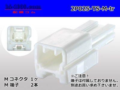 住友電装025型2極TSシリーズMコネクタ(端子なし)/2P025-TS-M-tr