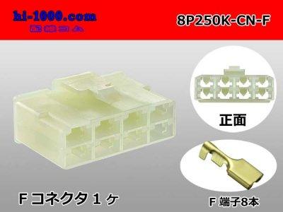 8P250型CNメス端子側コネクタキットF250-SMDS/8P250K-CN-F