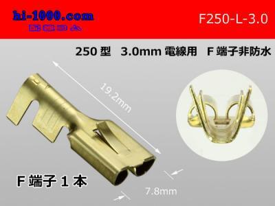 250型3.0mm電線用メス端子/F250-L-3.0