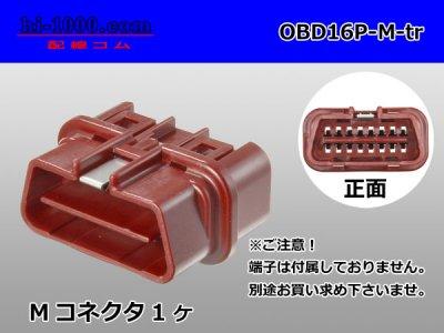住友OBD-�16極オス端子側カプラのみ(オス端子無し)/OBD16P-M-tr