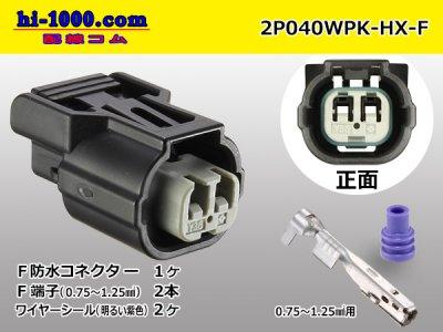 040型HX【防水】シリーズ2極F側黒色コネクタキットF040WP-HX/2P040WPK-HX-F