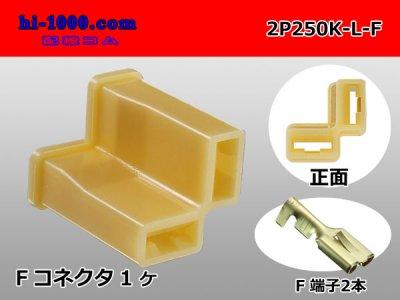 【クリックで詳細表示】250型2極L型Fコネクタキット/2P250K-L-F