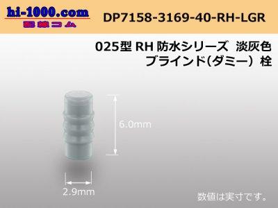 025型RH防水シリーズ淡灰色ブラインドダミー栓/DP7158-3169-40-RH-LGR