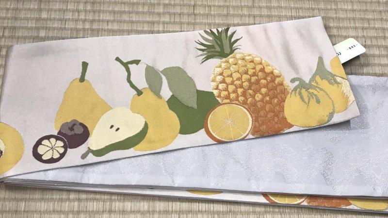 半幅帯  フルーツ