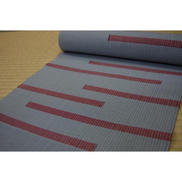 手織木綿帯 幾何学模様