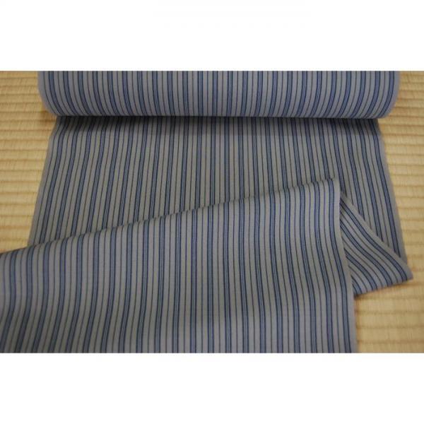 うーるきもの 織りうーる グレーの縞柄