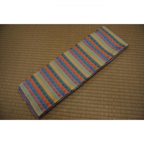 半巾帯 虹色