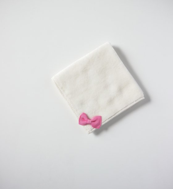 ミニリボンタオル ピンク