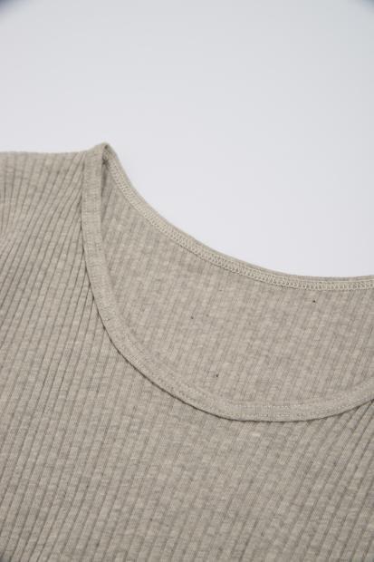ナナリブロングTシャツ グレー
